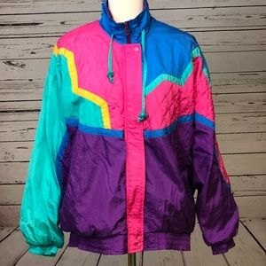 Lavon Medium Vintage Windbreaker Jacket Quilted